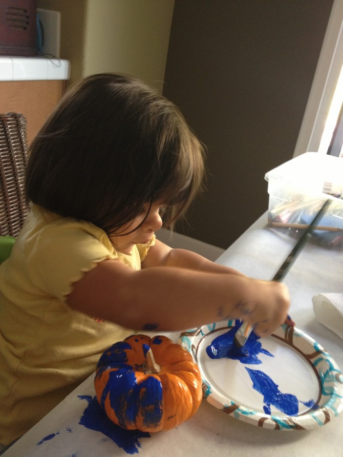 Baby Painting Pumpkin
