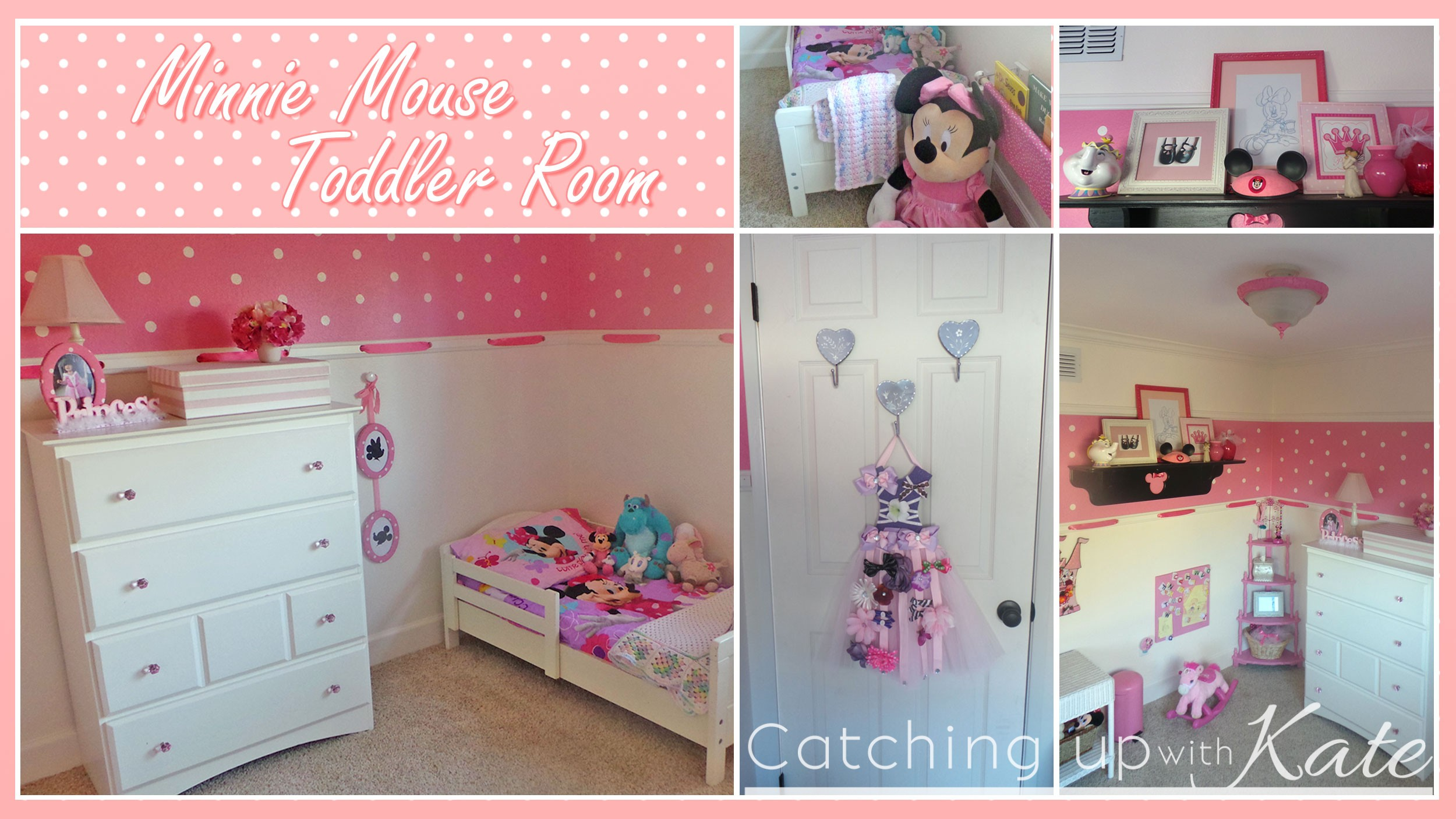 minnie mouse room diy decor highlights along the way. Black Bedroom Furniture Sets. Home Design Ideas