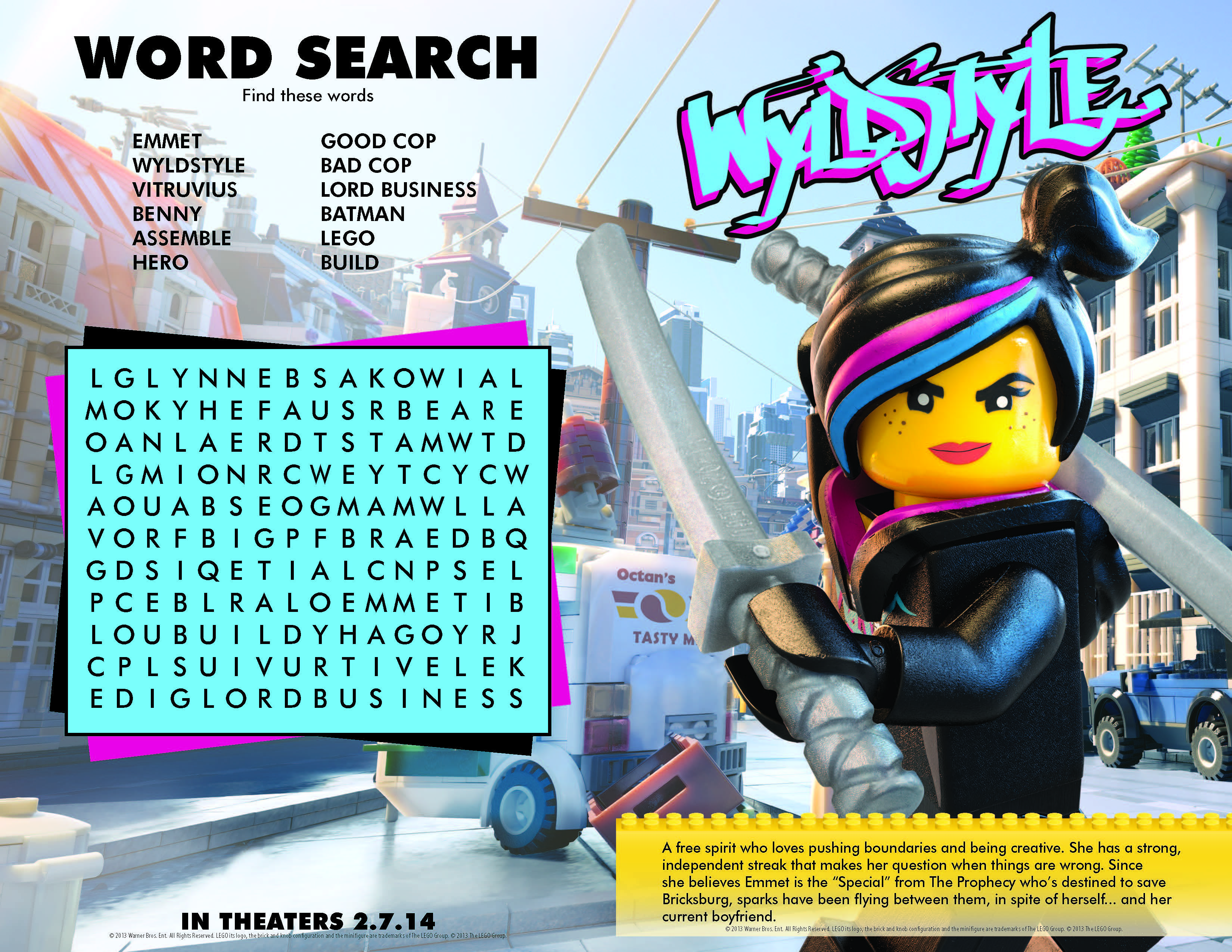 The LEGO Movie Printables, activity and coloring pages