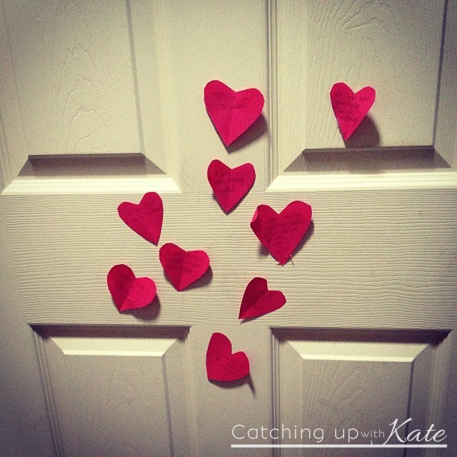 Hearts On The Door Valentines Day
