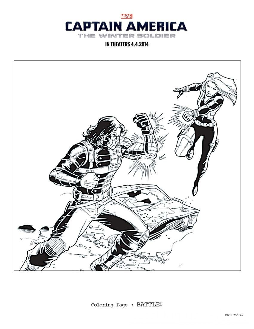 Captain America  The Winter Soldier  Printable Activity Sheets