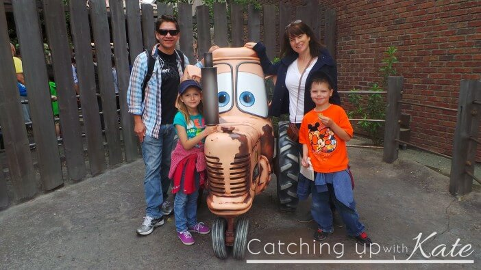 Cars land photo op