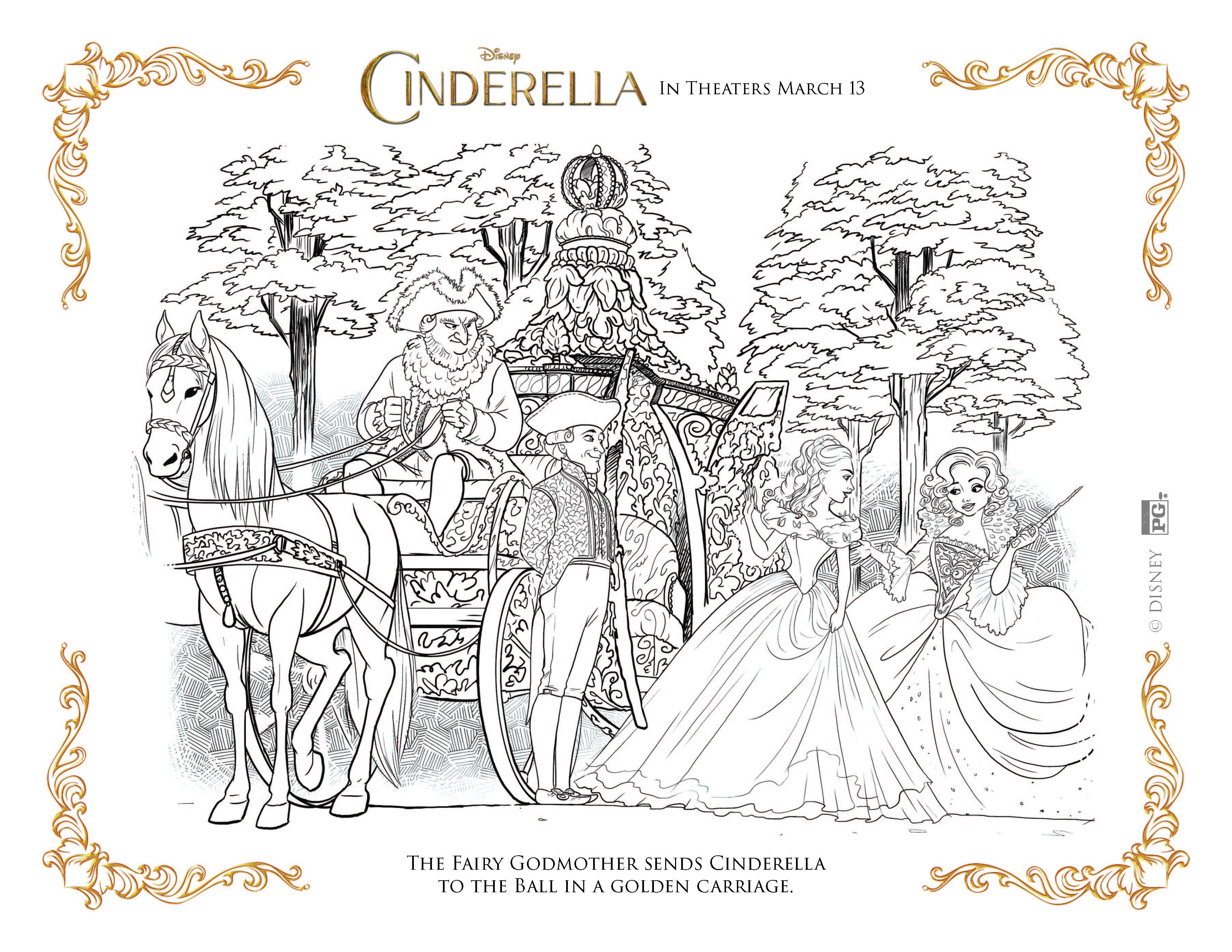 Coloring pages for cinderella - Cinderella Coloring Pages Fairy Godmother