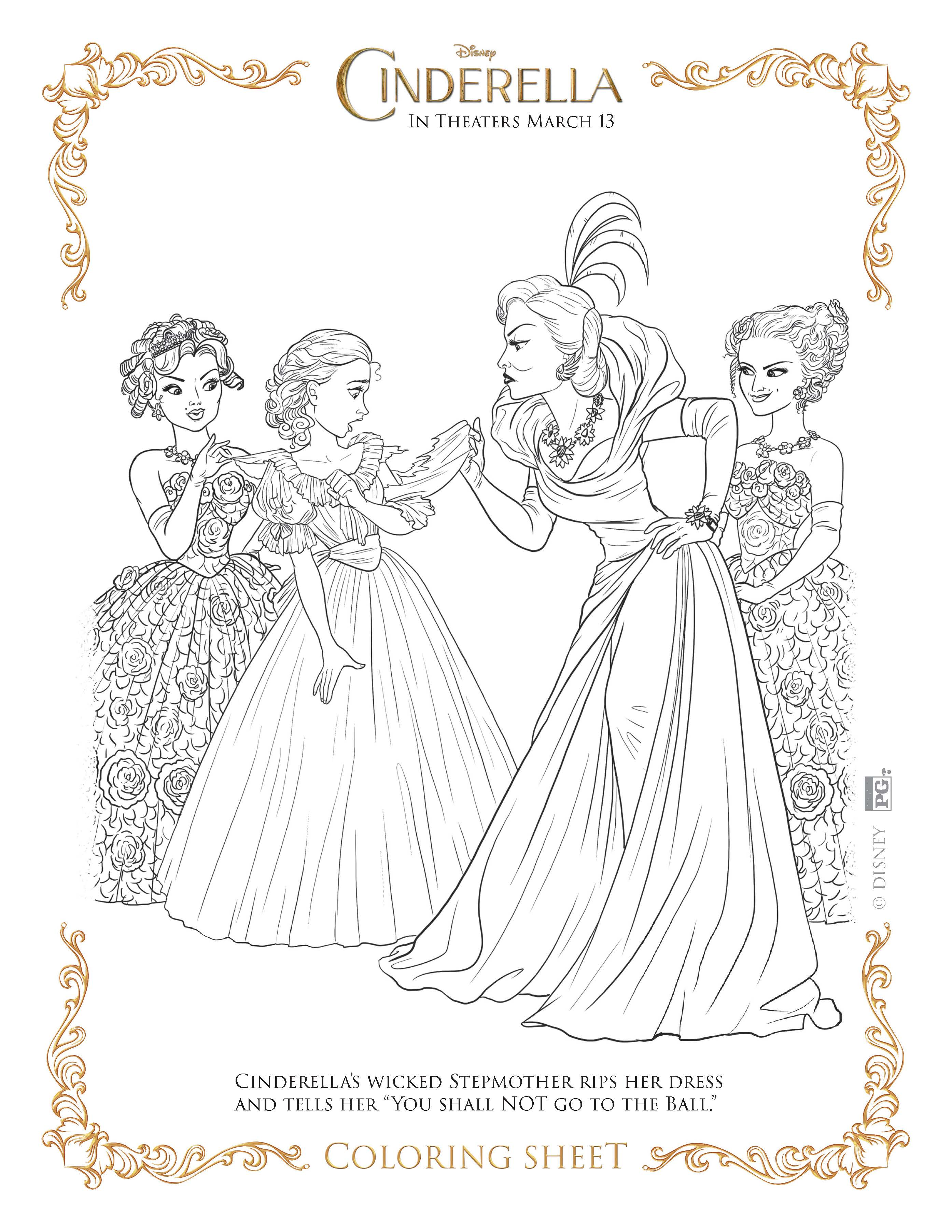 cinderella coloring pages highlights along the way