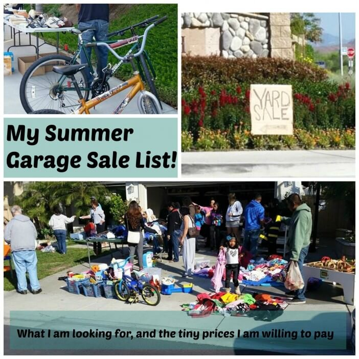 summer-garage-sale-list