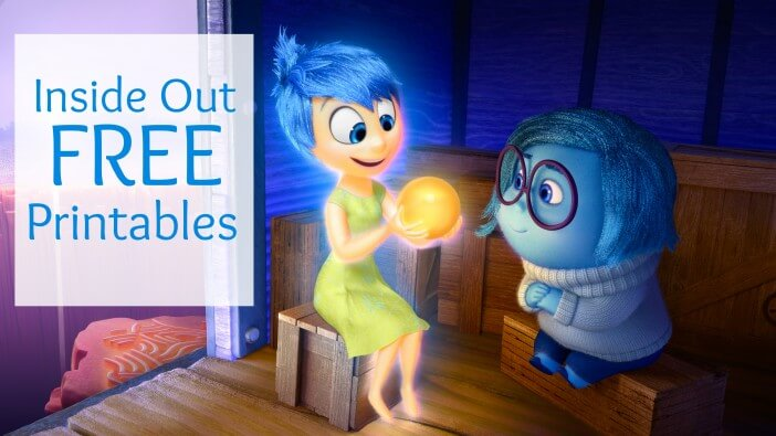 Inside Out free printables