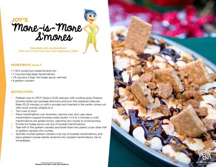 Inside Out smores recipe