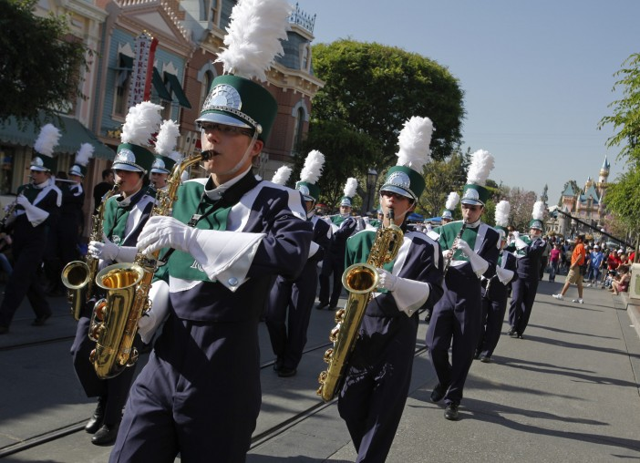 High School performs at Disneyland