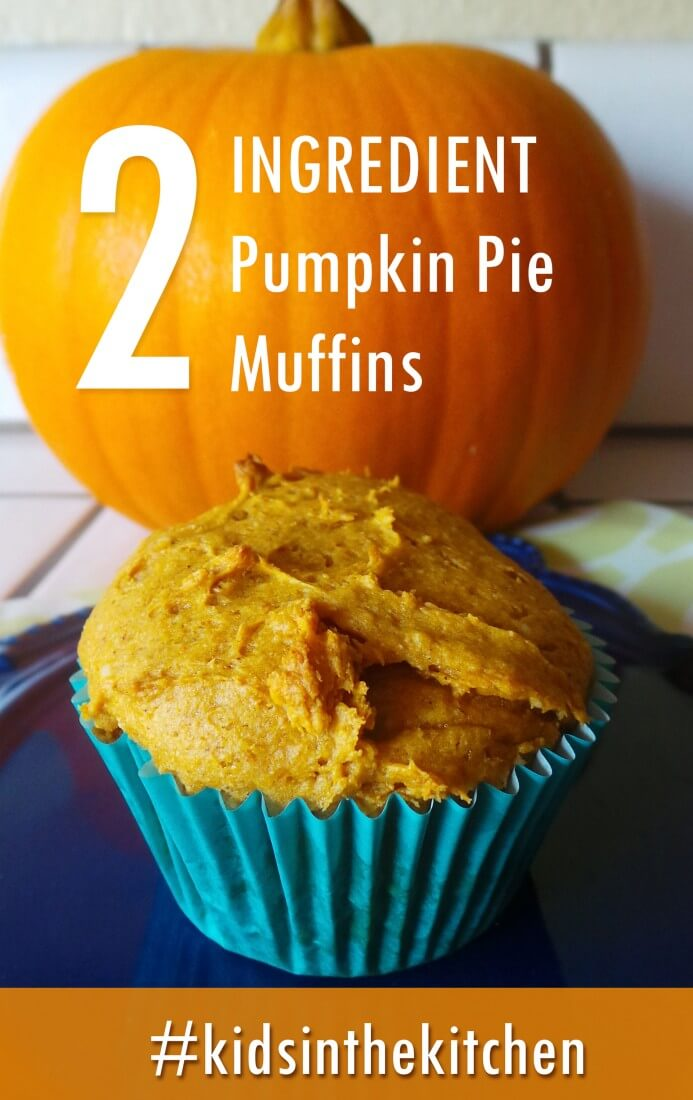 2 ingredient pumpkin pie muffins