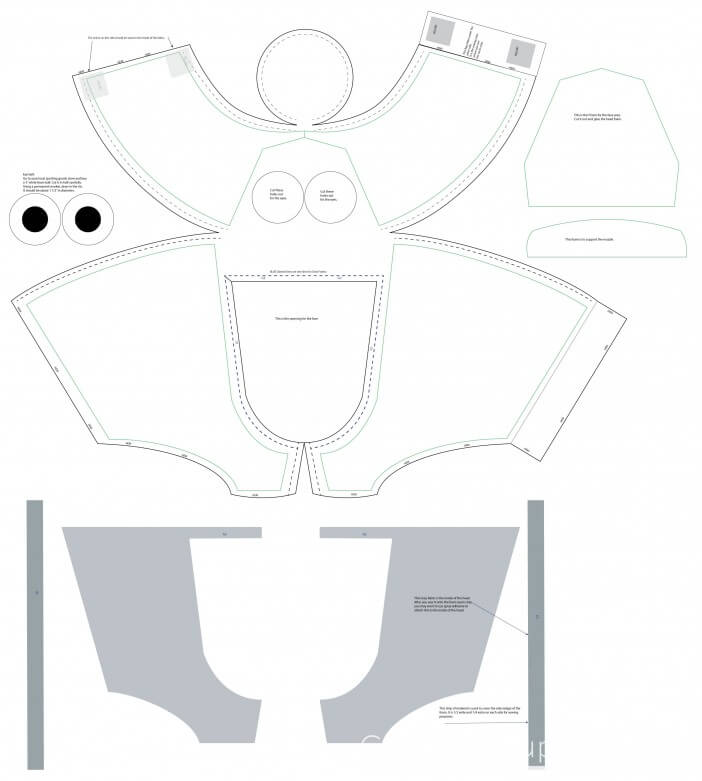 Olaf costume head template