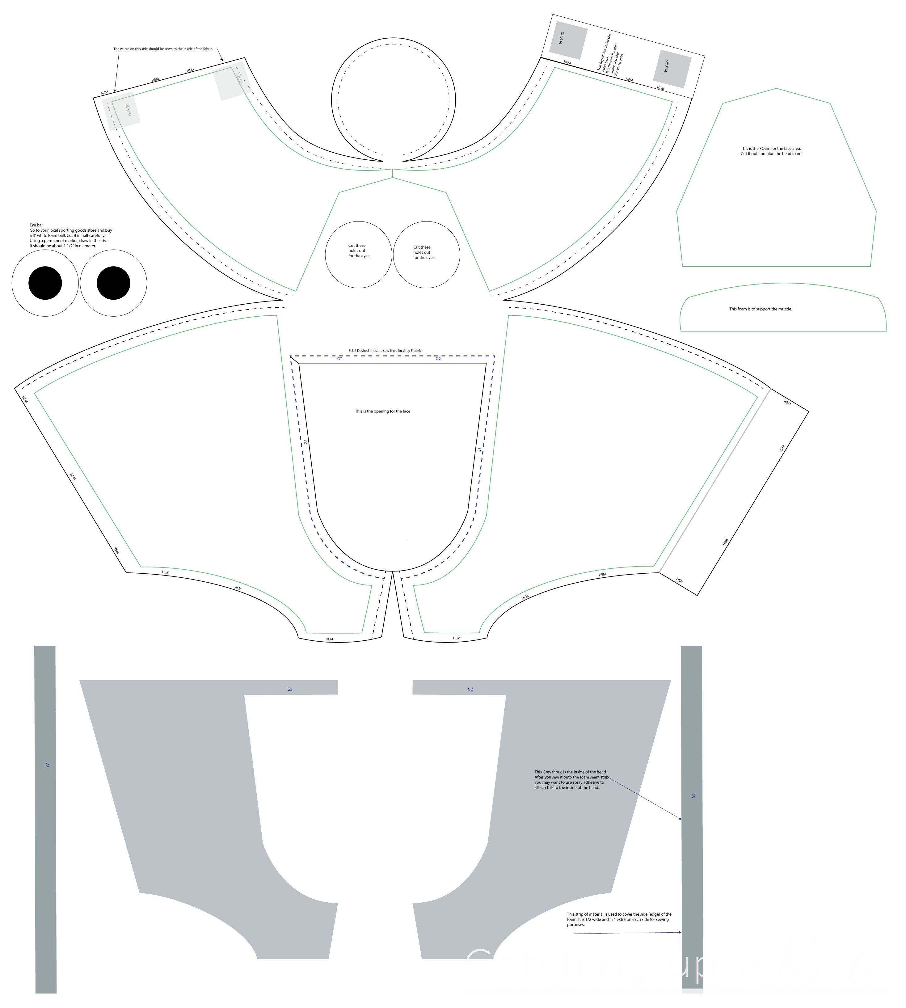 Diy olaf costume instructions highlights along the way olaf costume head template pronofoot35fo Gallery