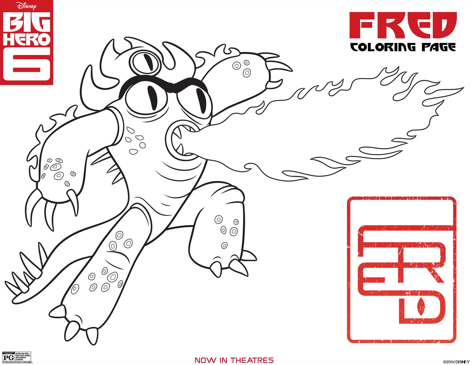 Big Hero 6 Coloring Pages Fred Page