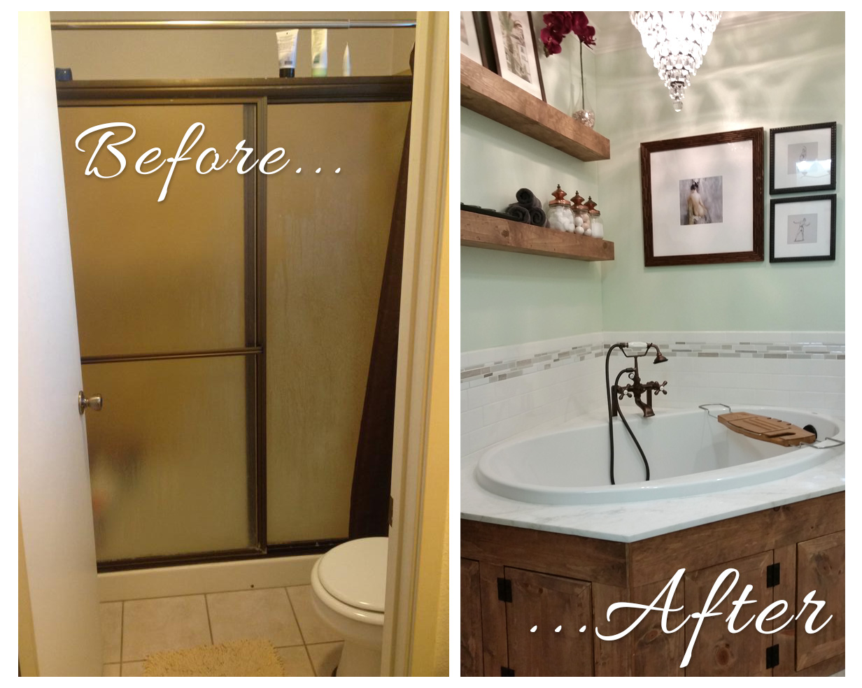 Our bathroom makeover for Bathroom makeover before and after