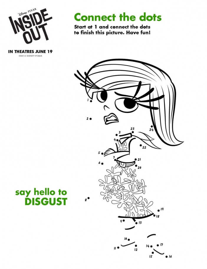 Inside Out printable activity disgust