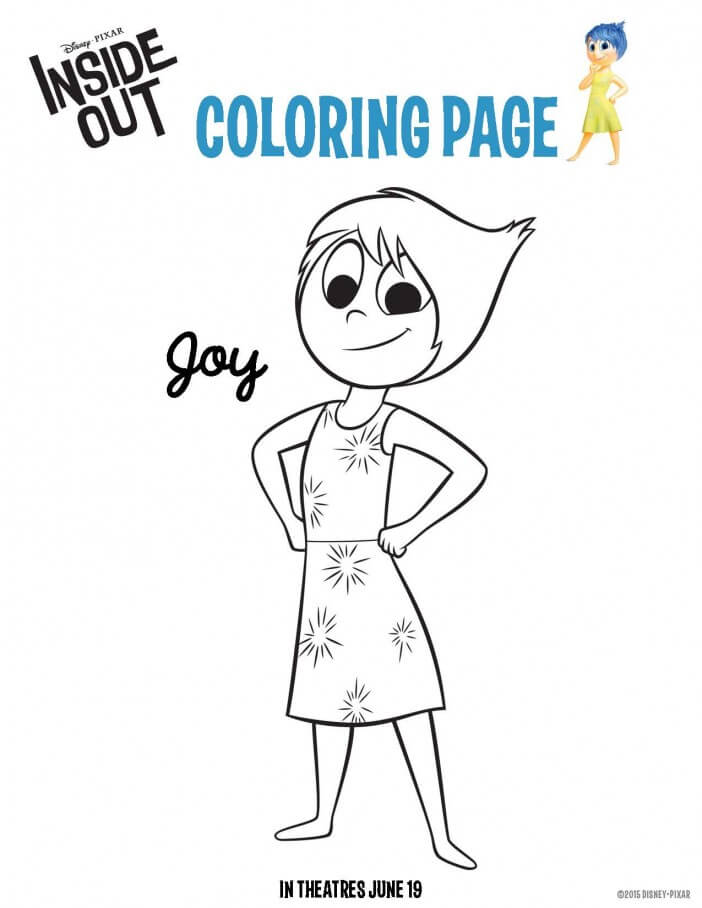 inside out joy coloring sheet